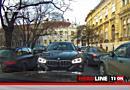 TionTV: Sofer de BMW fortat sa dea cu spatele dupa ce a intrat pe interzis