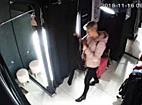 Femeie filmata de doua ori in timp ce fura haine dintr-un magazin, insotita de o fetita