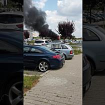 Gheretă de langoși distrusă de flăcări în Calea Buziașului din Timișoara