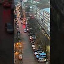 Incendiu puternic la mansarda unui bloc de pe Calea Martirilor din Timișoara