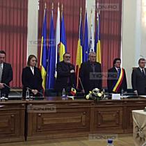 Imnul Timisoarei a rasunat pentru prima data in primarie, la o sedinta de consiliu local