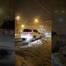 Haos in trafic la Timisoara, din cauza zapezii