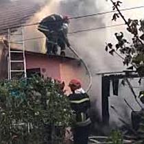 Incendiu puternic pe strada Gării din Timișoara, la un imobil cu curte comună II
