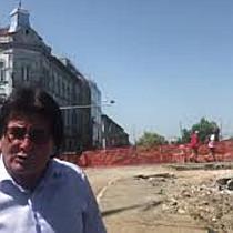 Primarul Robu, printre muncitori la Podul Dragalina Sunt toate premisele să fie gata în septembrie