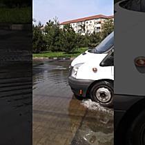 Inundatie pe o strada din Timisoara II