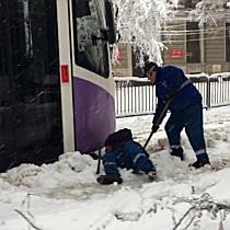 Timișoara sub nămeți, STPT are doar 2 pluguri pe tramvaie