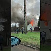 Incendiu puternic la o casă pe strada Lămâței din Timișoara