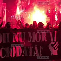 Suporterii ASU Poli au marsaluit in memoria eroilor Revolutiei