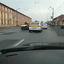 """""""Transport agabaritic"""" surpins de un sofer in traficul din Timisoara"""