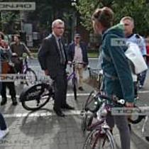 Incercare de blocare a turei cicliste organizata de Primaria Timisoara