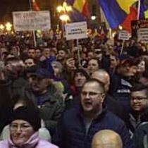 Centrul Timisoarei, plin de protestatari