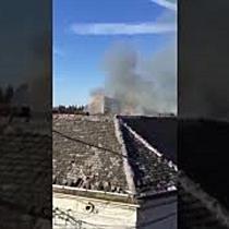 Incendiu puternic pe strada Gării din Timișoara, la un imobil cu curte comună