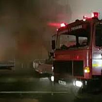 Incendiu puternic la iesirea din Timisoara