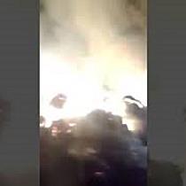 Incendiu puternic la un depozit de furaje din Deta