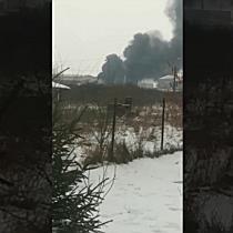 Incendiu puternic la un depozit de vopsele, langa Timisoara