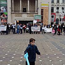 Protest impotriva vaccinarii obligatorii a copiilor, la Timisoara