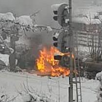 Incendiu la un adăpost improvizat de oamenii străzii