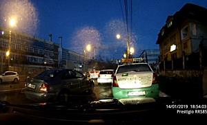 Accident în lanț pe strada Pestalozzi din Timișoara  Cinci mașini avariate