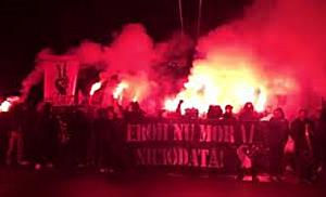 Suporterii ASU Poli, din nou in mars pe strazile Timisoarei, in memoria eroilor Revolutiei