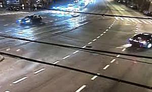 Accident de circulație filmat de camerele de supraveghere, în intersecția bulevardului Liviu Rebrean