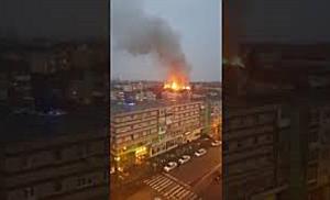 Incendiu puternic la mansarda unui bloc de pe Calea Martirilor din Timișoara 2