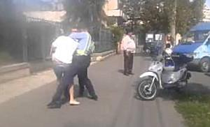 Smecher recalcitrant, imobilizat de politistii timisoreni
