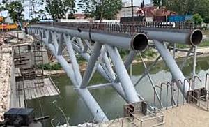 S-a montat prima grindă pe Podul Eroilor