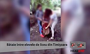 TionTV: Bataie filmata intre eleve de liceu, la Timisoara