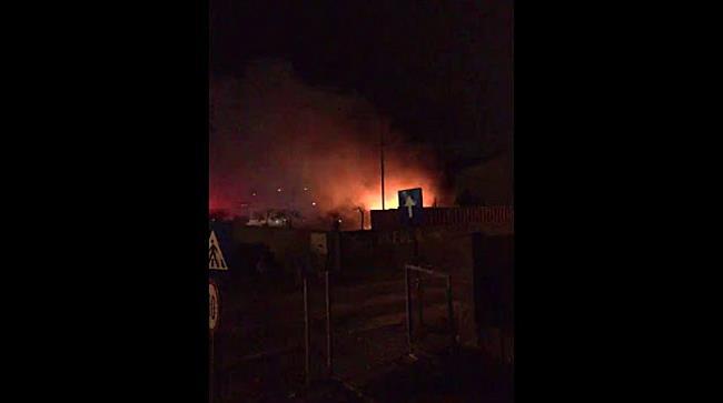 Incendiu puternic la un depozit din Ghiroda
