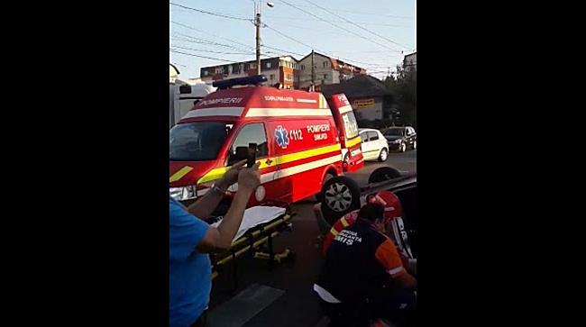 Accident cu victima provocat de o soferita neatenta, la Timisoara 1
