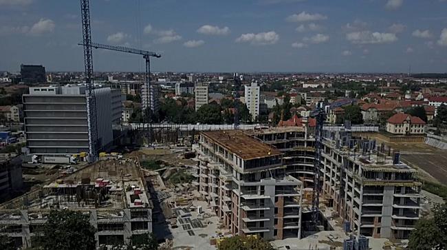 Constructia celui mai nou cartier de birouri si locuinte din Timisoara, in evolutie spectaculoasa