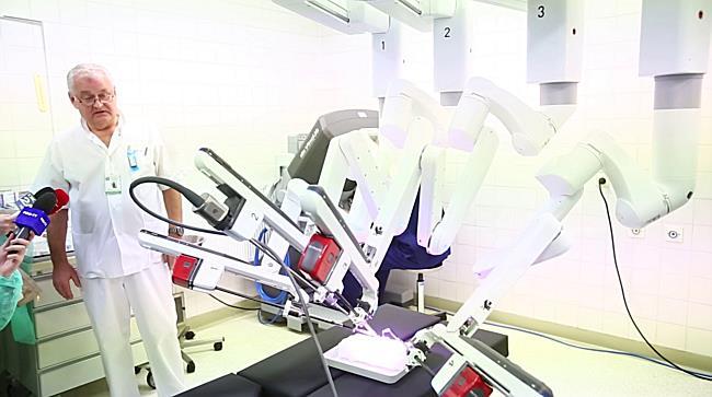 Primul si singurul robot din Romania folosit in chirurgia pediatrica, instalat la Timisoara 1