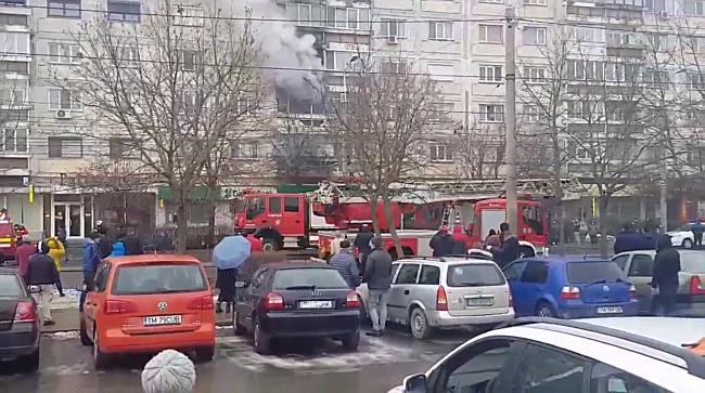 Incendiu puternic langa Spitalul Judetean din Timisoara 2