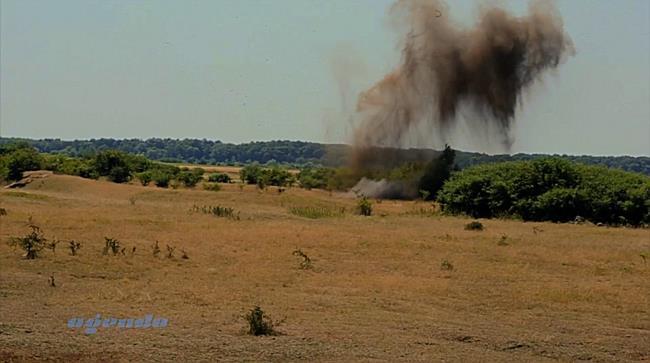 Operațiune periculoasă pentru pirotehnicienii din cadrul ISU Banat: distrugerea obiectelor explozive